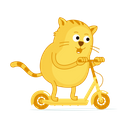 Cat Scooter Icon