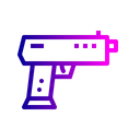 Caution Gun Safety Icon