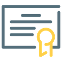 Certificate License Icon