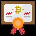 Certificate Diploma Bitcoin Icon