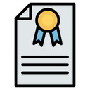 Contract Certification Diploma Icon