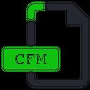 Cfm File Internet Icon