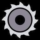 Chain saw wheel Icon