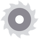 Chain Saw Wheel Saw Blade Icon