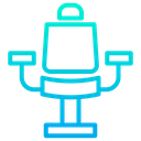 Arm Chair Barber Chair Coiffeur Icon