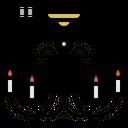 Chandelier Blub Light Icon