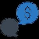 Chat Conversation Dollar Icon