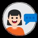 Chat Message Speak Icon