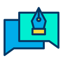 Design Pen Chat Icon