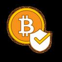 Check Bitcoin Security Bitcoin Shield Bitcoin Security Icon