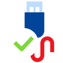 Check Usb Approve Usb Usb Cable Icon