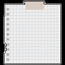 Checkered Note Mathematics Paper Note Design Icon