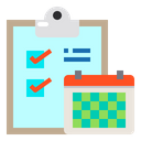 Clipboard Checklist Calendar Icon