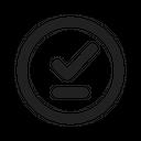 Checkmark Underline Circle Correct Verified Icon