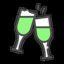 Wedding Cheers Bottle Drink Icon
