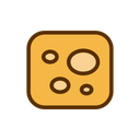 Cheese Cheddar Squere Icon