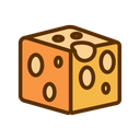 Cheese Cheddar Cube Icon