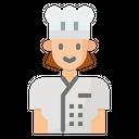 Chef Women Cook Icon
