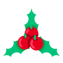 Cherry Christmas Xmas Icon