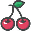 Cherry Fruit Vitamin Icon