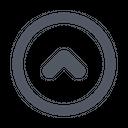 Chevron Up Circle Up Arrow Upload Icon