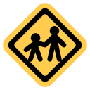 Child Crossing Pedestrian Icon