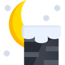 Chimney Night Scene Night View Icon