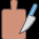 Chopping Block Chopping Board Cutting Board Icon