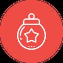 Ball Star Decoration Icon