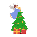 Christmas fairy Icon