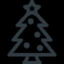 Christmas Tree Star Icon