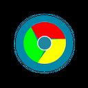 Chrome Metal Google Icon