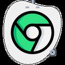 Chrome Technology Logo Social Media Logo Icon