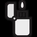 Cigarette Lighter Fire Lighter Flame Lighter Icon