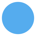 Circle Geometric Blue Icon