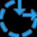 Circle Resize Maximum Icon
