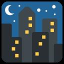 Cityscape Night View Icon