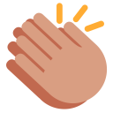 Clap Hand Medium Icon