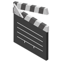 Clapperboard Clap Stick Slate Board Icon