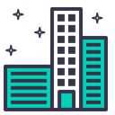 Clean Building City Icon