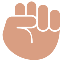 Clenched Fist Hand Icon
