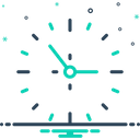 Clock Around The Clock Time Is Running Icon