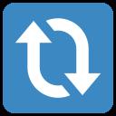 Clockwise Vertical Arrows Icon