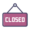 Closed signboard Icon