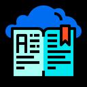 Book Cloud Readding Icon
