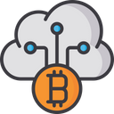 Cloud Currency Cloud Computing Blockchain Icon