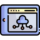 Cloud Computing Cloud Storage Web Page Icon