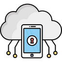 Cloud Data Online Data Secure Connection Icon