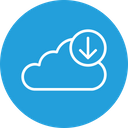 Cloud Data Downloading Icon