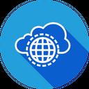 Cloud Data Safe Icon